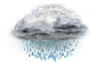 OceanView Weather Forecast  - Saturday  - Rain, Some Heavy Falls