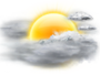 OceanView Weather Forecast  - Monday  - Mostly Cloudy