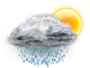 OceanView Weather Forecast  - Wednesday  - Afternoon Rain Showers